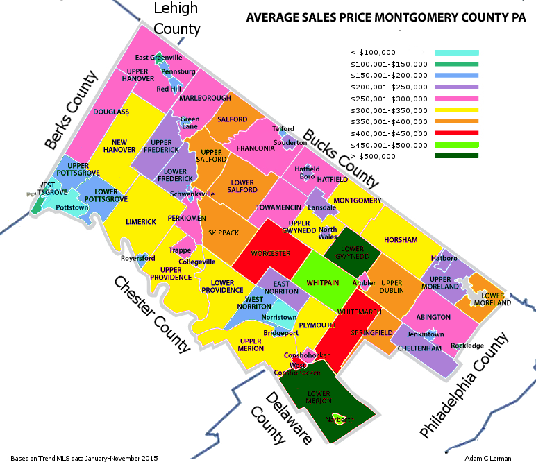 Montgomery County PA Average Sales Prices